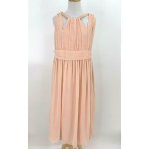 Asos Chiffon Midi Maternity Dress Empire Waist